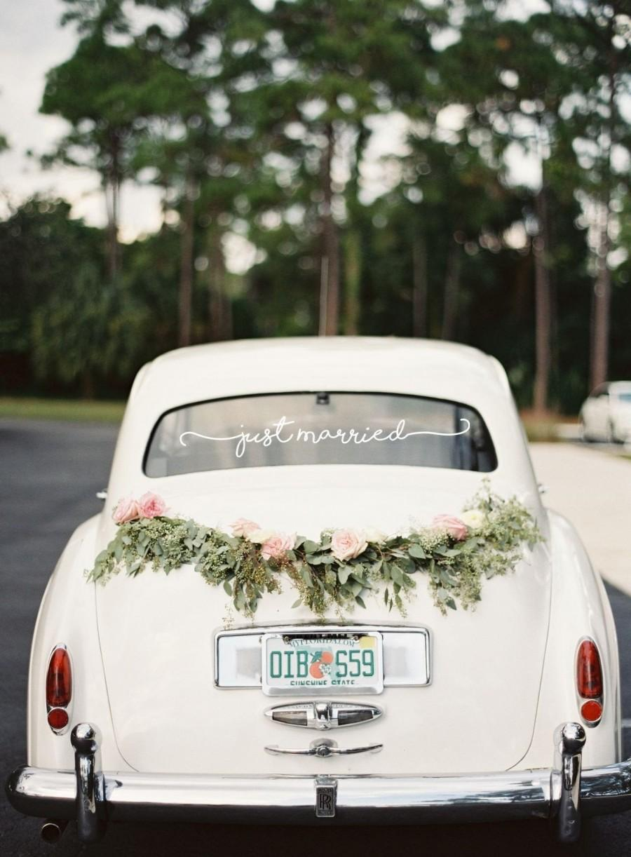 Mariage - Just Married Vinyl Decal
