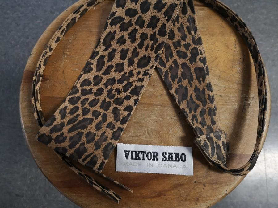 """Wedding - New VIKTOR SABO Canadian Exclusive  Handmade Obi Leopard Lambskin Print For Waistline Up To 32""""/81.3 cm Great Gift Colors Available"""