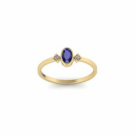 Wedding - Sapphire diamond ring, blue sapphire engagement ring, September birthstone ring, sapphire gold engagement ring, 14k gold sapphire ring, Gift