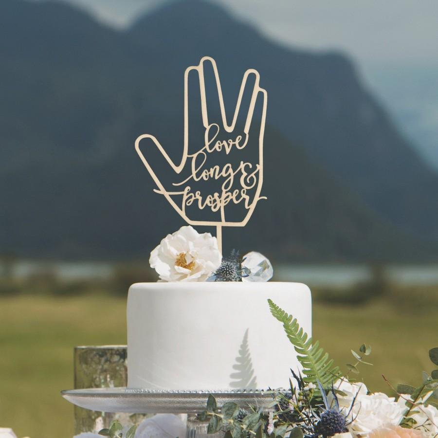 Mariage - Love long and prosper cake topper, Cake topper, Wedding cake topper, Wedding decorations and decor