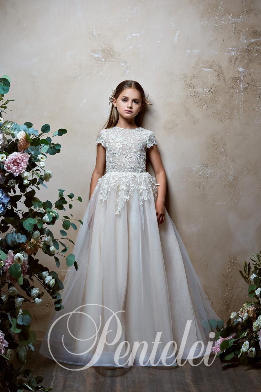 Wedding - First Communion Dress,White flower girl dress,Baptism Dress,Baby toddler lace dress,flower girls dresses,flower girl dress,Quinceanera Dress