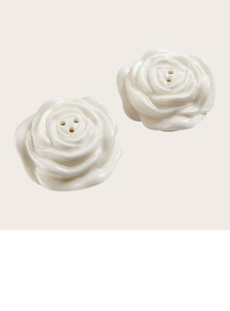 Wedding - beterwedding Flower Design Ceramic Salt & Pepper Shakers Wedding Souvenirs