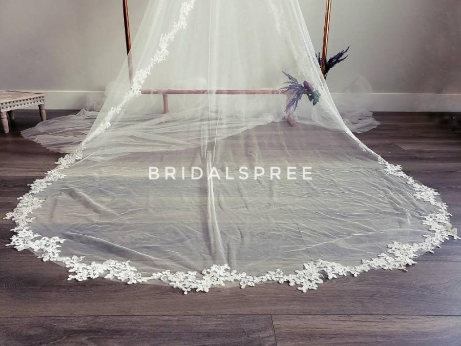 Wedding - CHIC Mantilla Lace Cathedral Veil