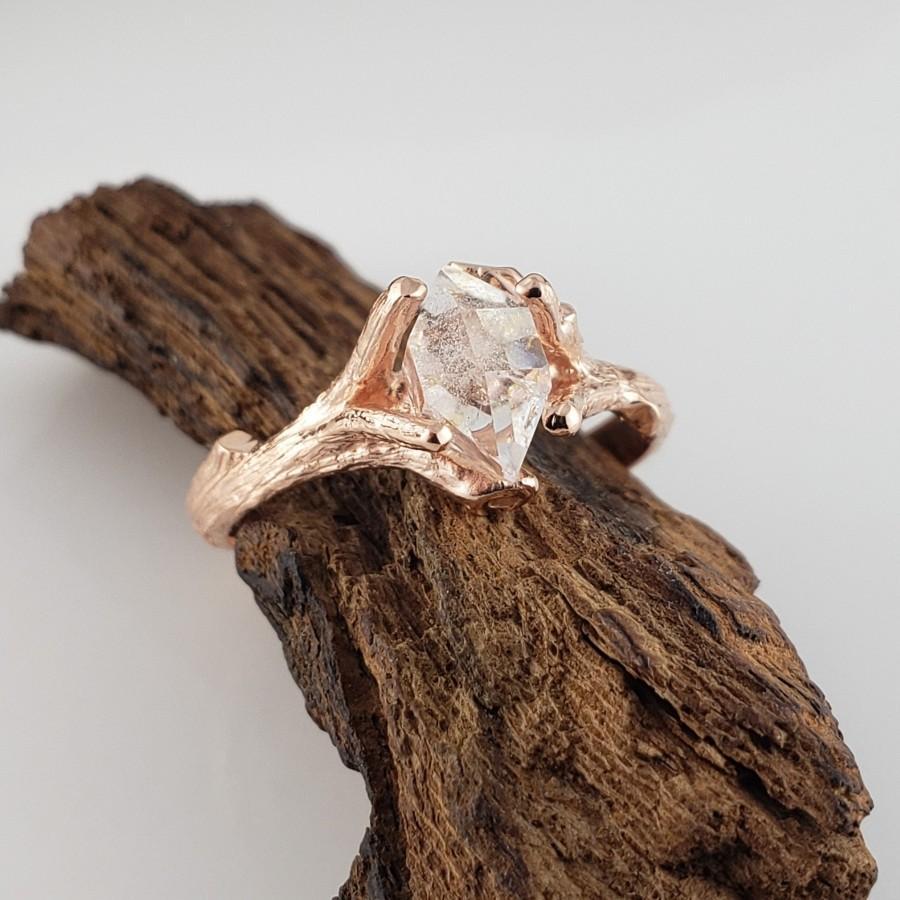 Mariage - Raw Uncut Diamond Engagement Ring - Diamond Ring Setting - Raw Diamond Ring