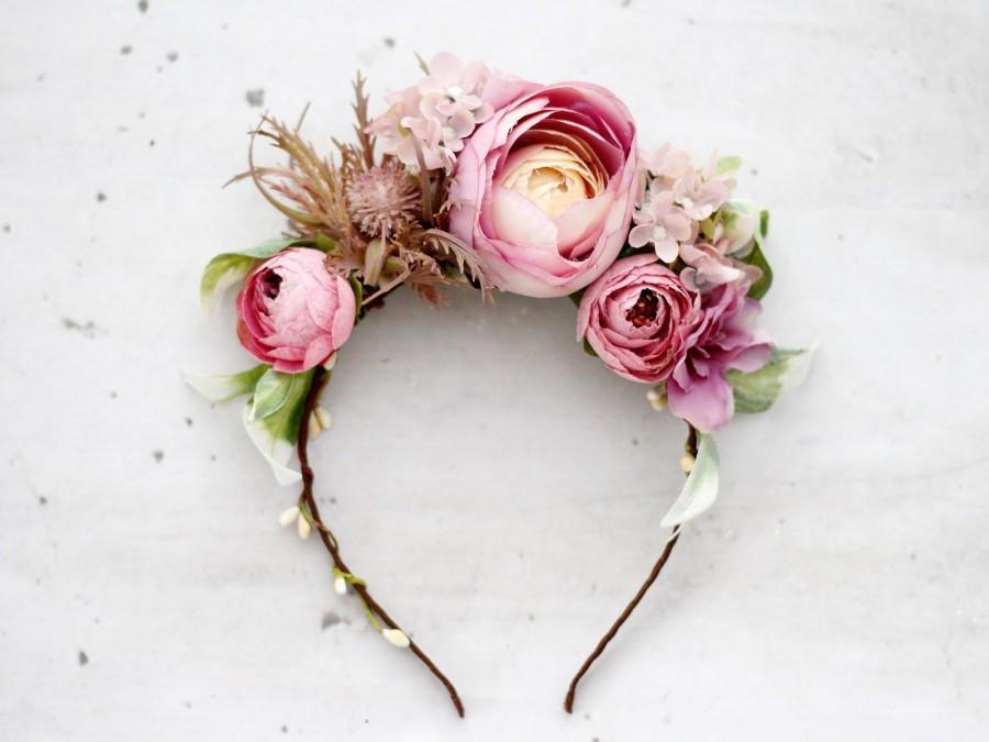 Mariage - Frida flower crown, mexican peony flower headband
