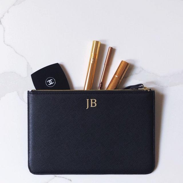 Mariage - A Timeless Personalised Initial Clutch Bag – Custom Made Monogram Wristlet Purse – Fab Gift for Anniversary, Birthday, Brides Bridesmaids