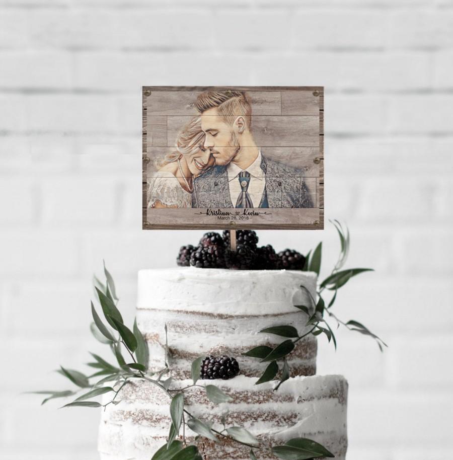 Свадьба - rustic wedding cake topper bride and groom for rustic wedding decor bridal shower cake topper personalized wedding cake topper with dog