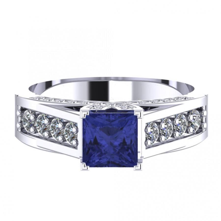 Mariage - Tanzanite Wedding Band, Tanzanite Band, Herkimer Diamond Engagement Ring, Diamond Wedding Band Yellow Gold, Diamond Wedding Band White Gold