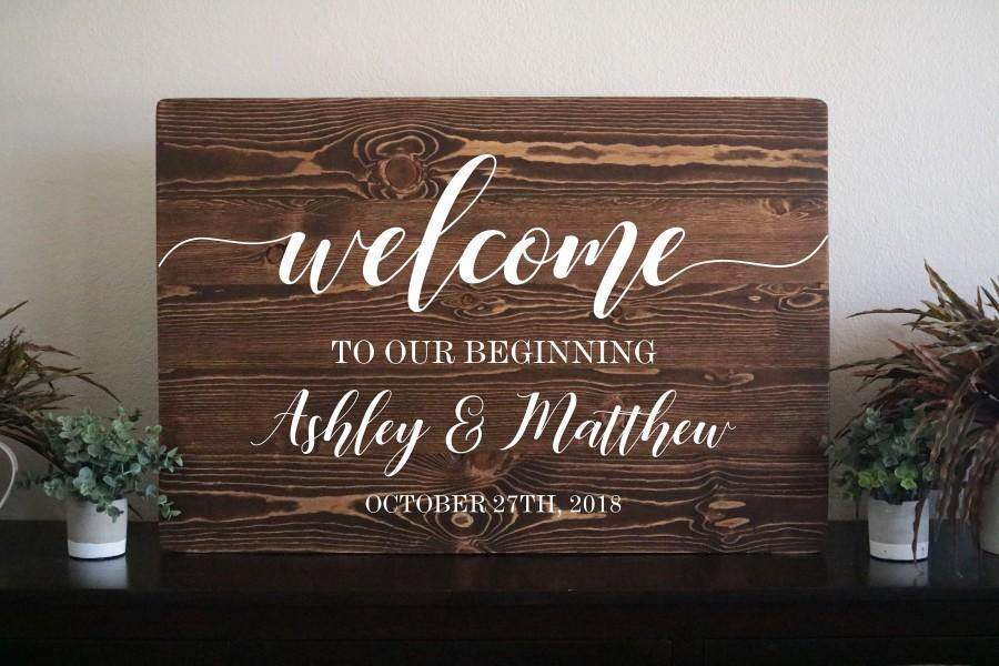 Wedding Welcome Sign Wood Wedding Sign Wood Wooden Welcome Sign