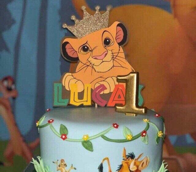 Mariage - Lion king custom cake topper