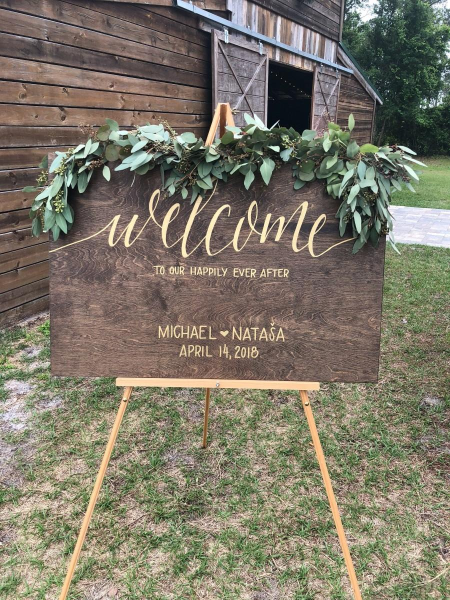 Mariage - Welcome - Wood Sign