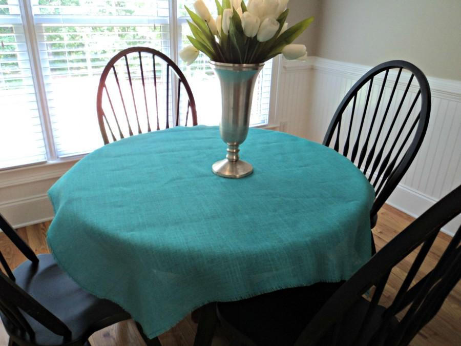 "Mariage - Large Burlap Overlay Burlap Tablecloth Many Colors and Sizes Available Shower Table Decor Wedding Reception Decoration 40"" up to 60"" Squares"