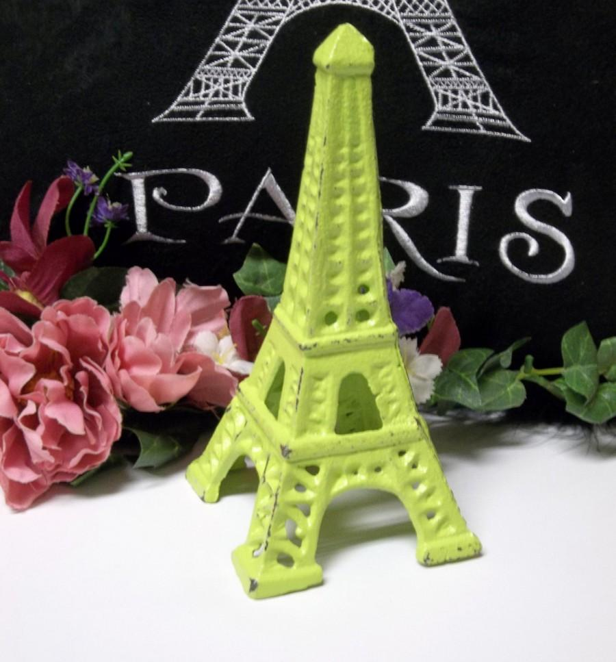 زفاف - Lemon Lime Cast Iron Eiffel Tower Paris Home Decor Shabby Chic Retro Nursery Decor
