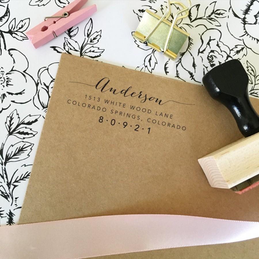 Wedding - Address Stamp, Return Address Stamp, Self Inking Return Address Stamp, Address Stamps, Self Inking Address Stamp (T189)