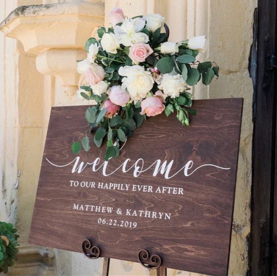 Wedding - Wedding Welcome Sign - Custom Wood Wedding Sign - Personalized Ceremony Sign