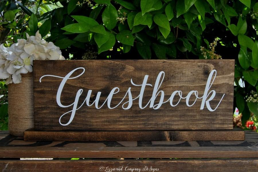 Mariage - Guestbook Sign - Welcome Sign - Sweetheart Table Sign - Wedding Photo Prop - Guest Book - Calligraphy Sign - Alternative Guestbook 15 x 5