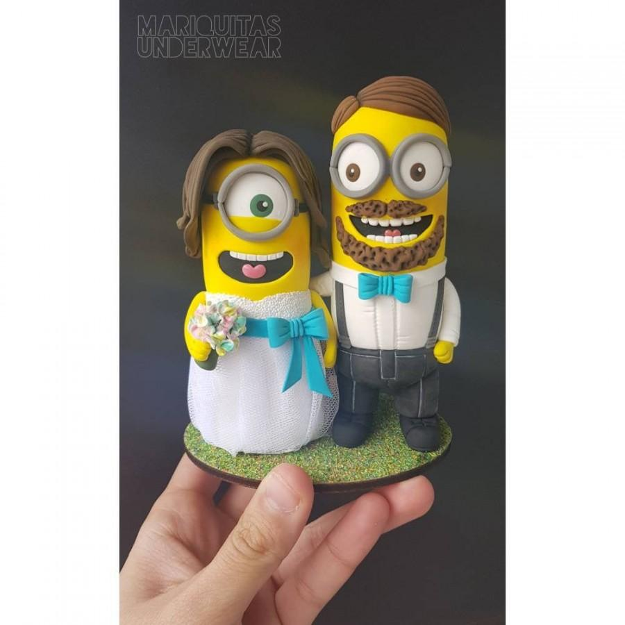 Wedding - Wedding cake topper Minion