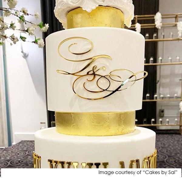 Hochzeit - Initials Cake Plaque