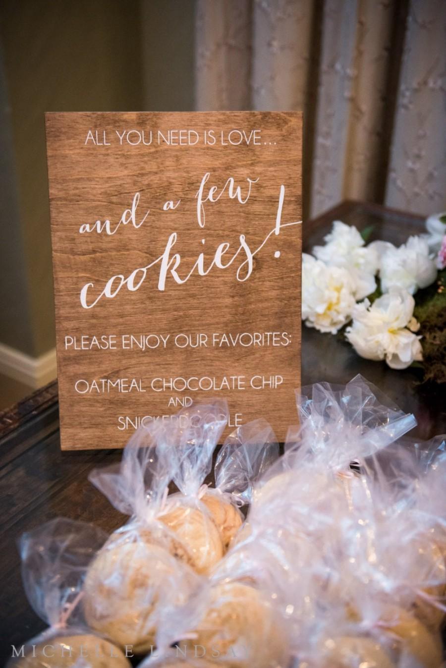 Wedding - Custom Favors Sign - Wooden Wedding Signs - Wood -c