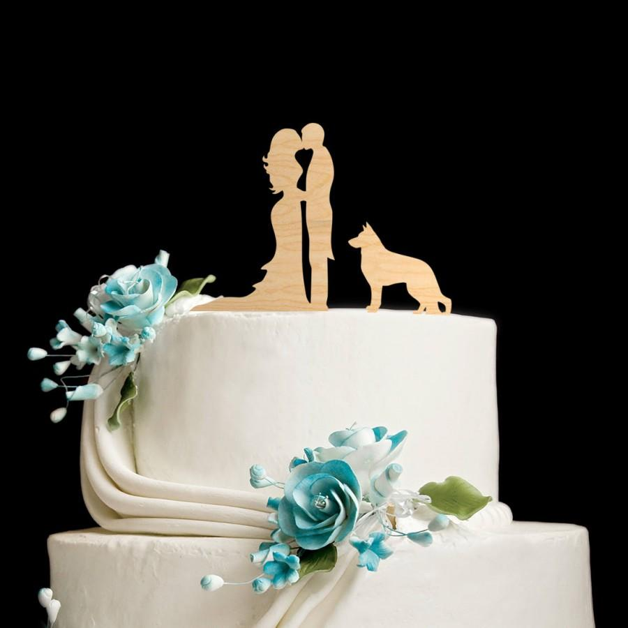 Свадьба - German shepherd wedding cake topper,german shepherd cake,german shepherd cake topper,german shepherd wedding,German Shepherd topper,590