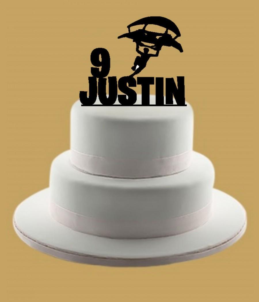 Mariage - Custom Glider Cake Topper, Custom Cake Topper, Cake Topper, Birthday Cake Topper, Name Cake Topper, Personalized Cake Topper