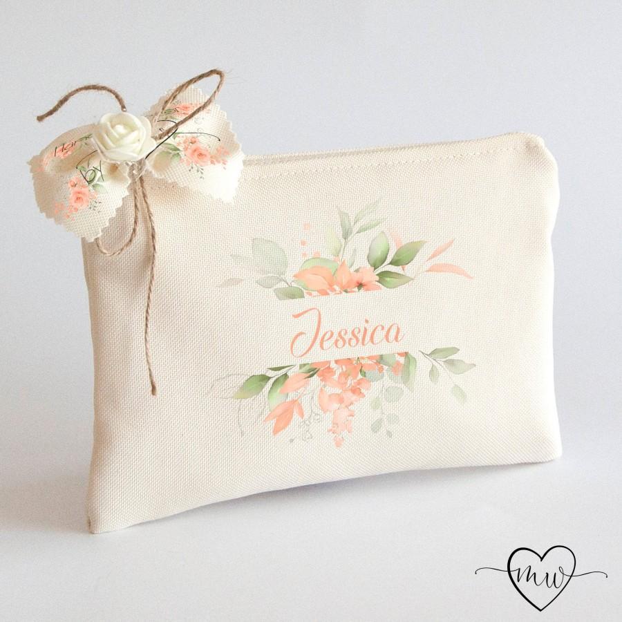 Wedding - Personalized Bridesmaid Makeup Bag Bridesmaid Proposal Gift Personalised Bridesmaid Gift Wedding Bags Bridesmaid Cosmetic Bags #JESSICA