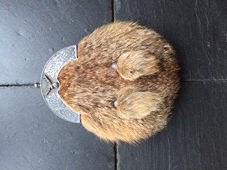 Mariage - Fox Fur Sporran With Fox Fur Tassels