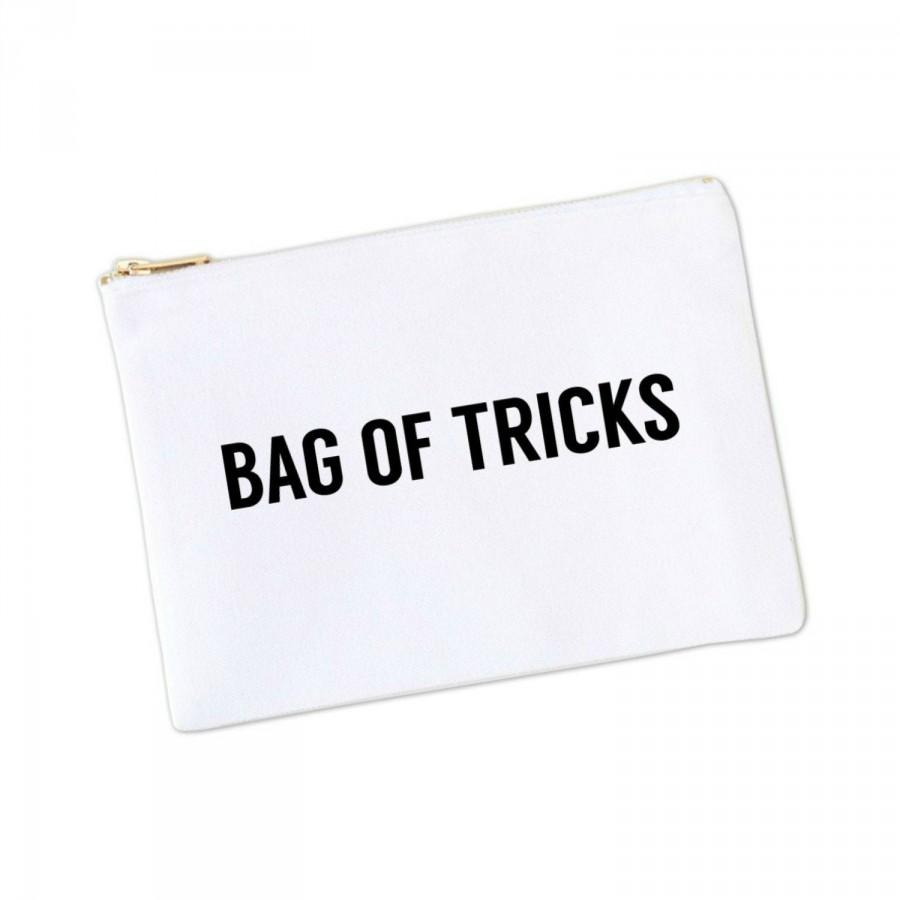 Wedding - SALE! Bag of Tricks Canvas Makeup Bag