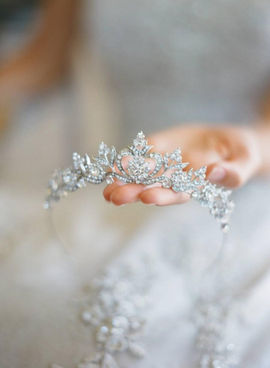 Wedding - Bridal Tiara Wedding Tiara DIANA Hairpiece Rhinestone Tiara Rhinestone Crown Wedding Crown Crystal headband Bridal hair piece Bridal crown