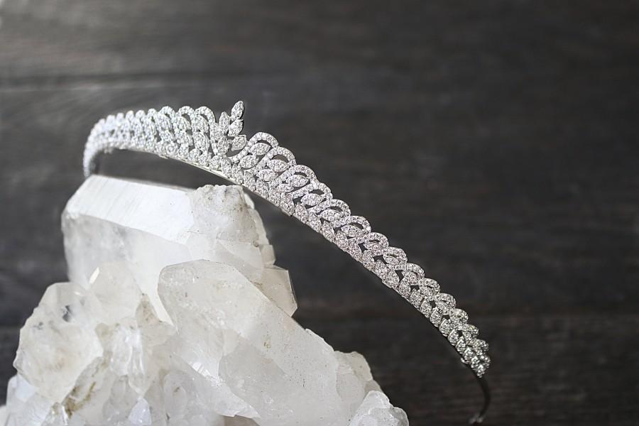 Hochzeit - Bridal Tiara -  COLETTE, Swarovski Bridal Tiara, Wedding Tiara, Wedding Crown, Bridal Crown, Bridal Headpiece CZ Tiara