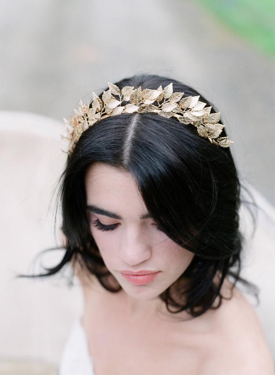 Свадьба - Tiara Bridal Headpiece, SIGRID Bridal Gold Headpiece, Leaf Hair Clip Leaves Wedding Comb, Silver Bridal Headpiece As Seen in Southern Bride