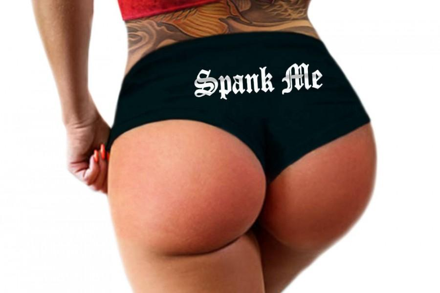 زفاف - Spank Me Panties Sexy Funny BDSM Submissive Slutty Booty Boy Short Spanking Panty Bachelorette Party Gift Womens Underwear