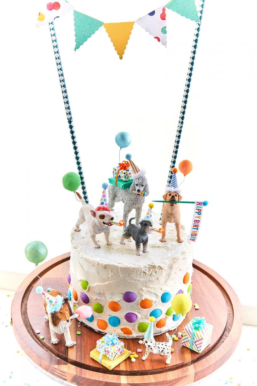 Wedding - Dog birthday party//dog cake toppers/Dog party/Labrador  cake topper/collie cake topper//poodle cake topper