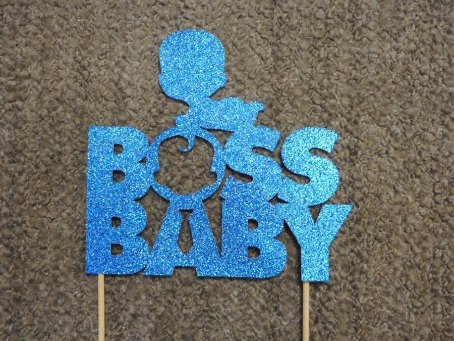 Wedding - Boss Baby Cake Topper- Blue/Pink