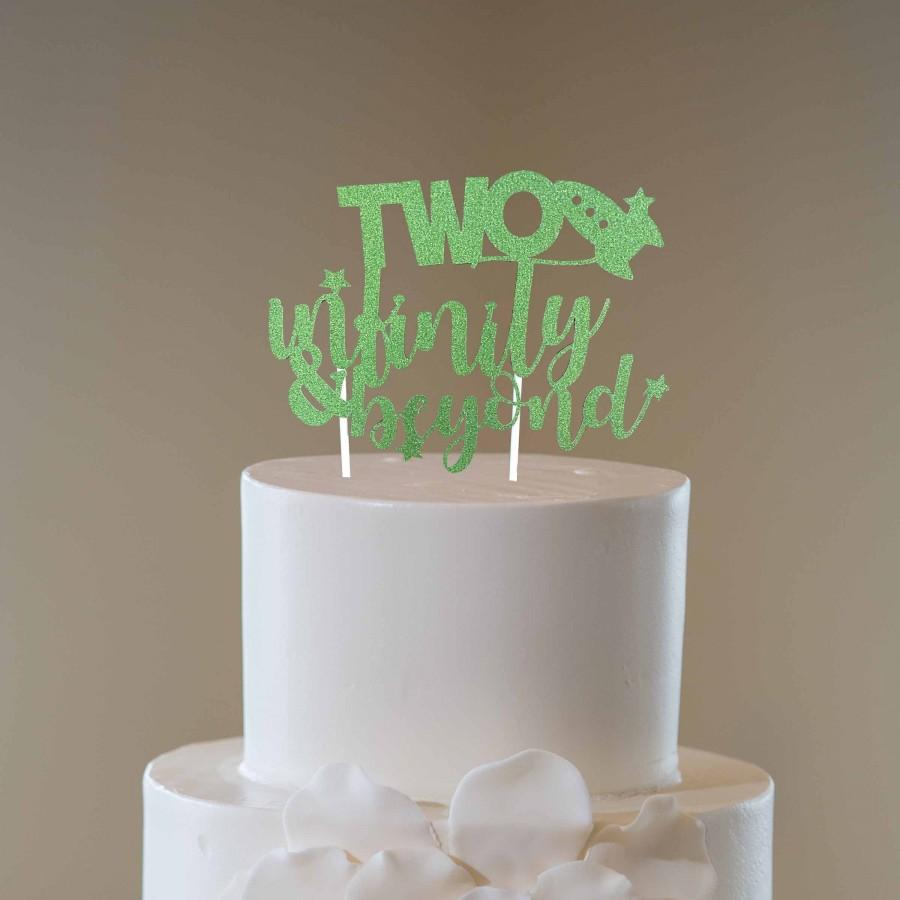 Hochzeit - Two Infinity & Beyond Glitter Cake Topper, Toy Story Inspired Cake Topper, Space Cake Topper, Buzz Lightyear Inspired Cupcake Topper