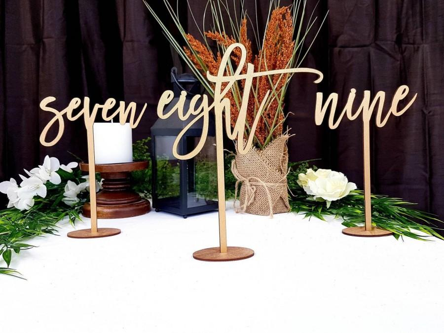 Mariage - Gold Table Numbers for Wedding