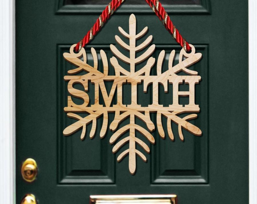 Wedding - Snowflake Door Hanger, Christmas Decor, Christmas Decorations, Holiday Decor, Farmhouse Christmas, Rustic Christmas, Holiday Door Hanger