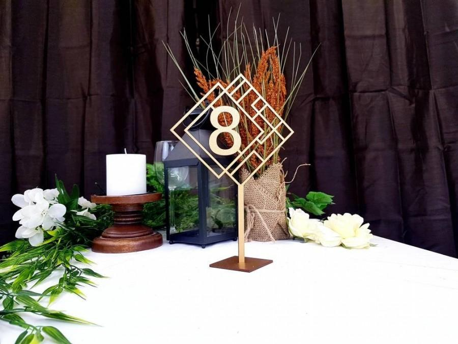 Wedding - Tall Art Deco Table Numbers