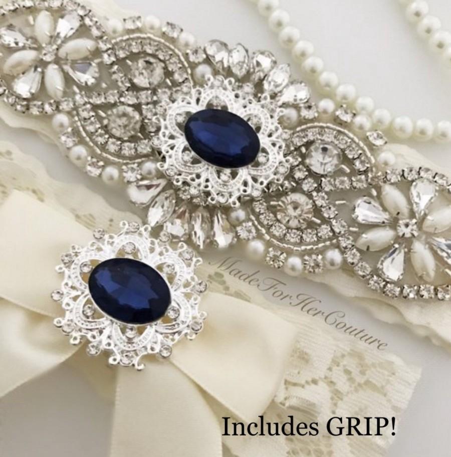 Свадьба - Garters for wedding, wedding garter, garter, blue garter, garter set wedding, bridal garter, wedding garter navy, garter belt, navy garter
