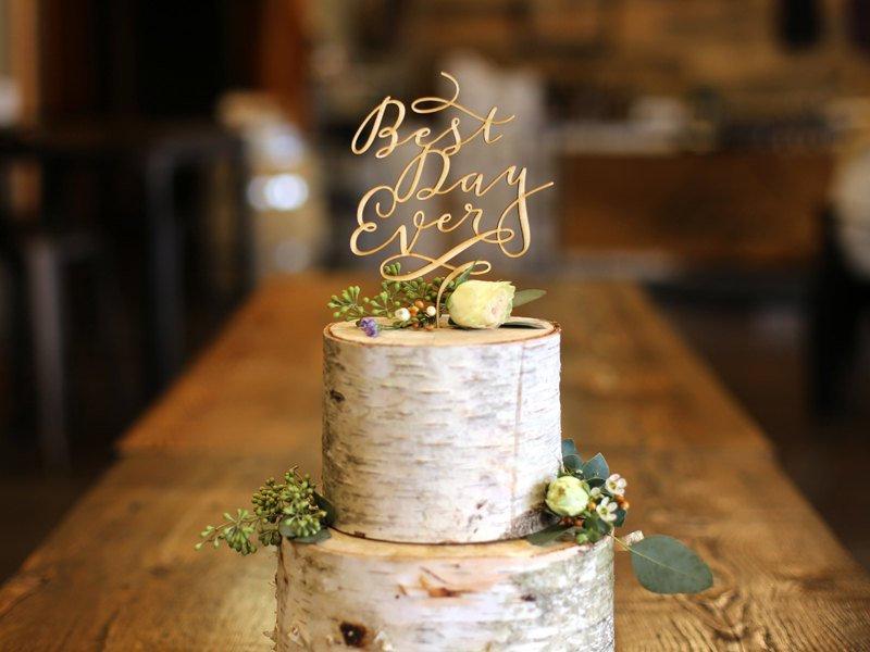 Hochzeit - Wedding Cake Topper / Best Day Ever Wood Wedding Cake Topper / Rustic Cake Topper / Best Day Ever Cake Topper / Simple Cake Topper