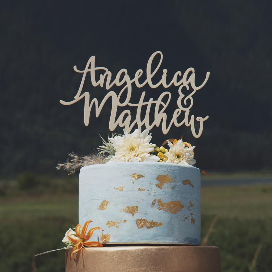 Свадьба - Rustic wedding cake topper, Custom name cake topper, Personalized wedding cake topper, Wood cake topper
