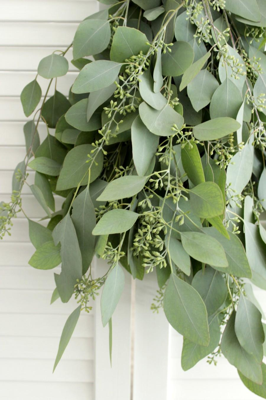 Wedding - Fresh Seeded Eucalyptus Bunch- 5-7 stem for wedding, home decor, party, gift to loved ones.
