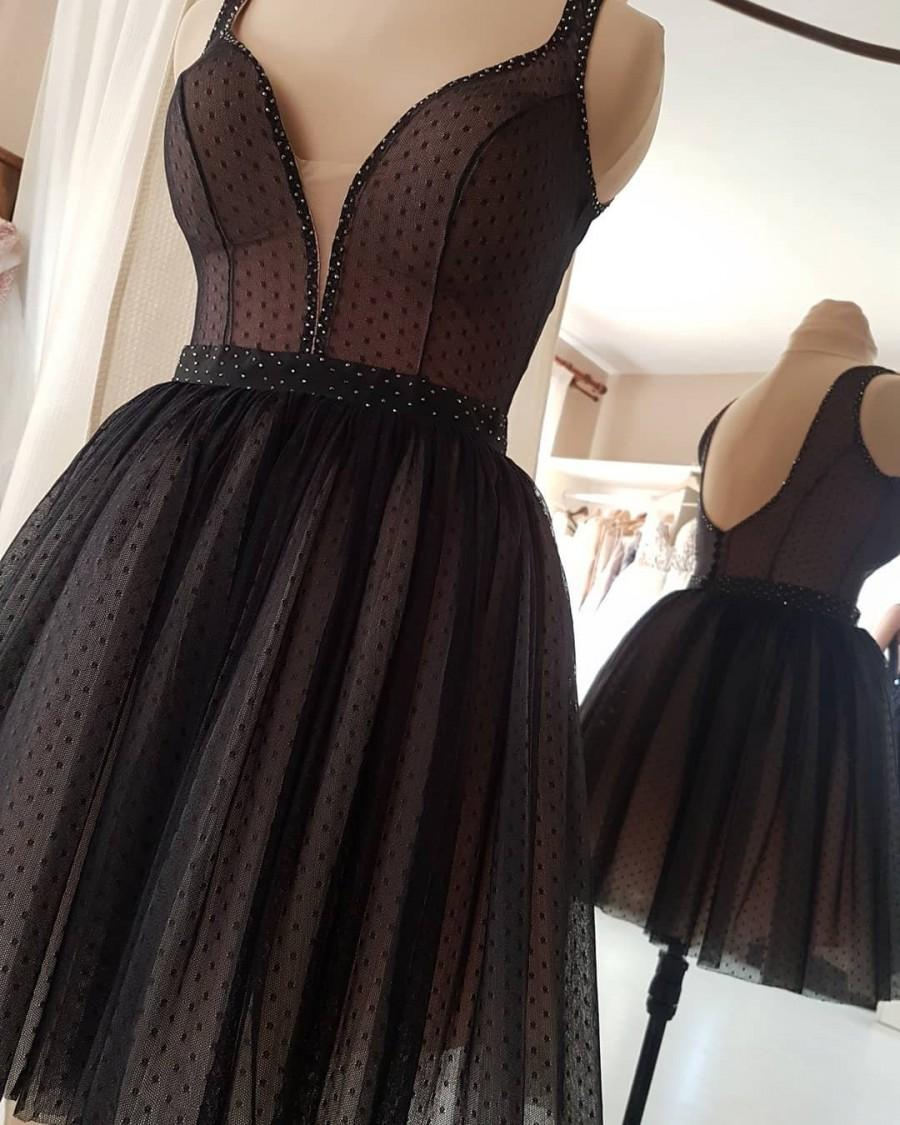 Свадьба - Gothic wedding dress,Black lace gown,Modest wedding dress,Black tulle dress,Formal lace dress,LBD