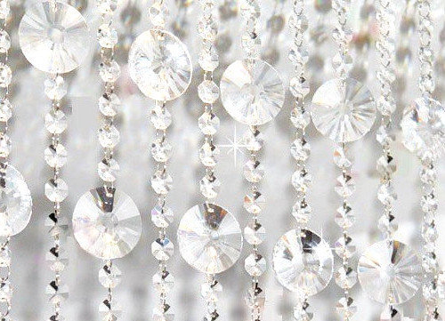 Mariage - 3 FT. Sun Disk Glass Crystal Garland Hanging Crystals Fen Sui Crystal Centerpieces Wedding Floral Arrangement Chandelier Crystals Wholesale