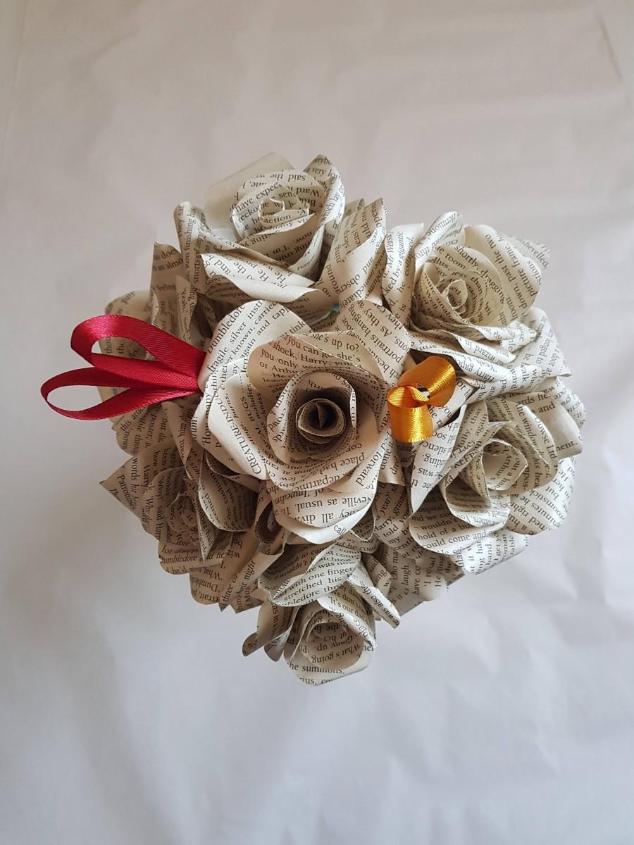 Свадьба - Harry Potter Paper Flowers, Wedding Flowers, Hogwarts House Flowers, Geek Bridal Wedding, Paper Fantasy Flowers, First anniversary