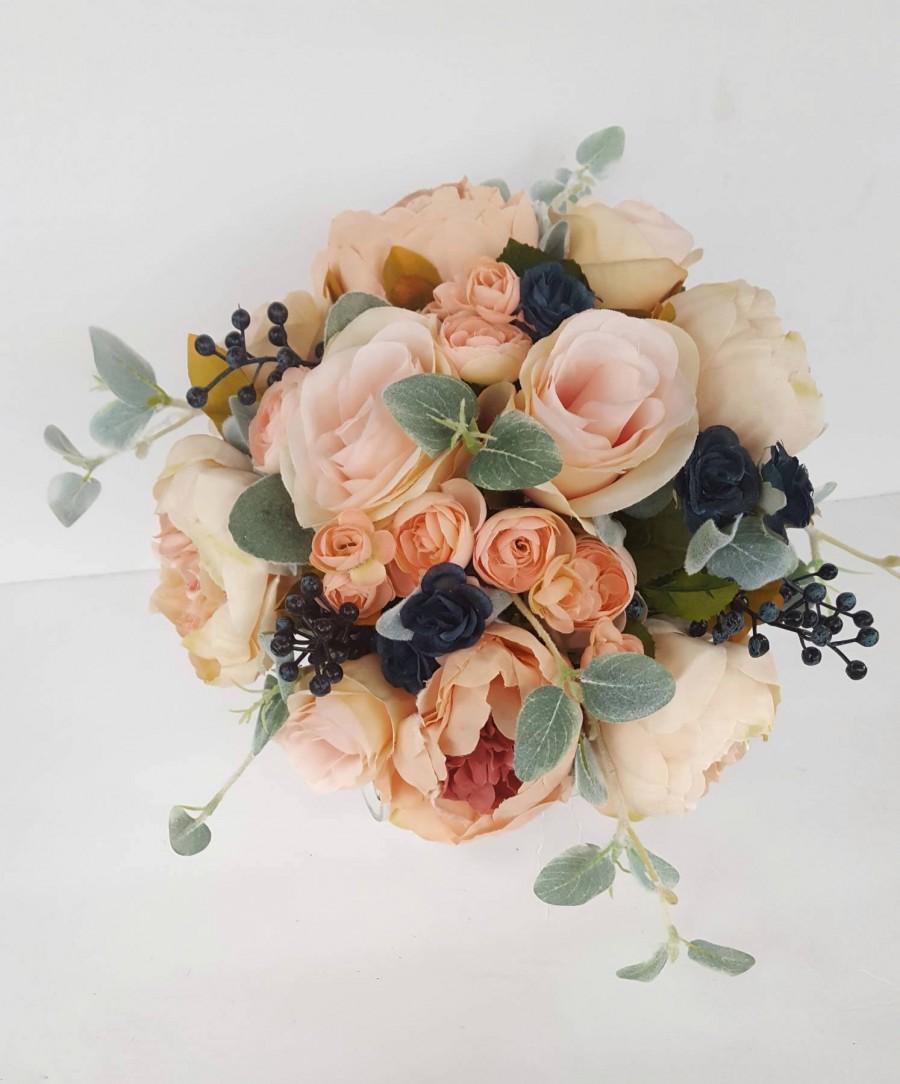 Blush Pink Bridal Bouquet Navy Wedding Flowers Pink Rose Bouquet Spring Wedding Peony Bridal Bouquet Ballet Pink Garden Wedding Faux 2951540 Weddbook
