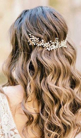 زفاف - Bridal hair piece Bridal hair vine Bridal Hair Accessories Wedding Hair Accessories Silver Wedding hair piece Rose gold Bridal hair vine