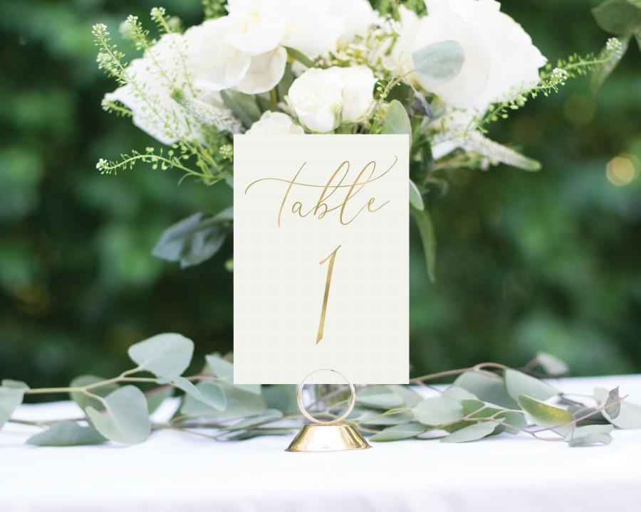 Свадьба - Gold Table Numbers, Wedding Table Numbers, Rustic Table Numbers, Foil Table Numbers, Elegant Wedding Table Numbers, #1174 4x6