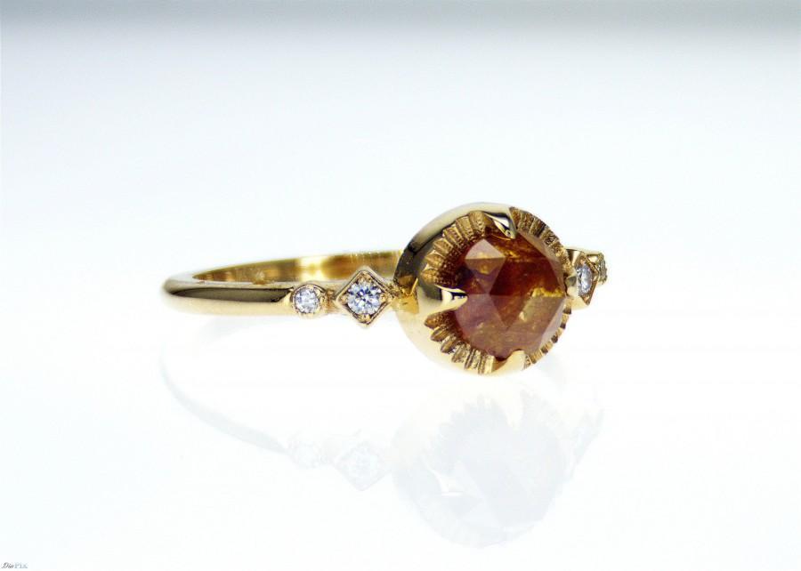 Mariage - Rose Cut Diamond Ring /  Rose Cut Diamond Engagement Ring/Rose cut ring/Stacking ring/Alternative engagement ring/unique engagement ring