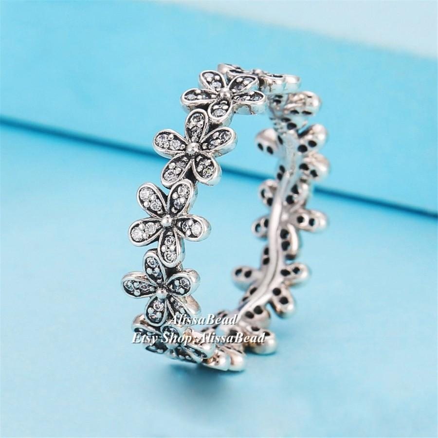 Свадьба - 2015 Spring 925 Sterling Silver Dazzling Daisy Meadow Ring Clear CZ Rings For Women Jewelry Finger Ring